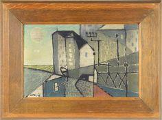 "Bohumír Matal (1922-1988) STADT. 1948. Öl auf Papier, 20x30 cm, links unten sign. und datiert """