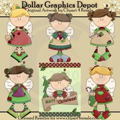 Christmas Angels - Clip Art - $1.00 : Dollar Graphics Depot, Quality Graphics ~ Discount Prices
