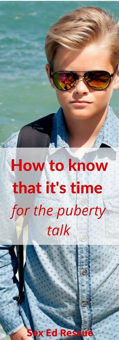 By looking out for the first signs of puberty in boys, parents can be prepared and start talking to their sons about puberty before it is too late.