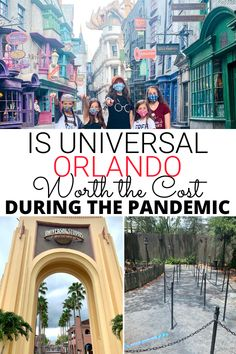 Is it worth the cost to visit Universal Orlando during a pandemic? Pros and cons to the restrictions and safety measures at Universal Studios Florida. #UniversalOrlando Orlando Travel, Orlando Vacation, Florida Vacation, Florida Travel, Travel Usa, Universal Orlando, Universal Studios Florida, Walt Disney World Vacations, Disney Trips