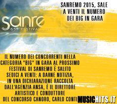 E' Salito il numero di big in gara in questo +Festival di Sanremo !
