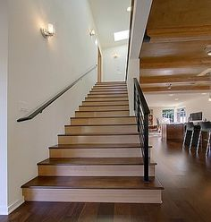 Two toned stairs. For basement.