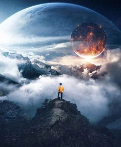 Space Trips - Don't' be afraid to explore the Universe! Dark Photography, Photoshop Photography, Creative Photography, Photomontage, Fantasy Landscape, Fantasy Art, Cool Pictures, Beautiful Pictures, Space Artwork