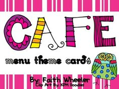 Set of 21 Owl Theme Cafe menu cards that includes Main Header Cards,  Strategies, and Small Post-It Sized Cards