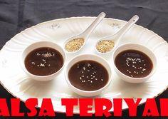 Receta Salsa Teriyaki, Sin Gluten, Sauce Recipes, Chocolate Fondue, Sushi, Salmon, Recipies, Pudding, Healthy Recipes