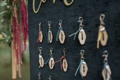 Earlier this summer, I had the pleasure of working with Abby of AE Creative to create a custom seating chart and favor combination. We met a few times to narrow down what would be the perfect fit for her bride and groom. We came up with personalized keychains to use as a seating chart, and then for the guests to take with them as their unique favor. Wedding favors are something that a lot of thought goes into, as the bride and groom want something that is memorable