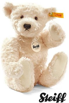 Image detail for -Elmar Teddy Bear - Cream - 32cm - UK wooden toys and games.