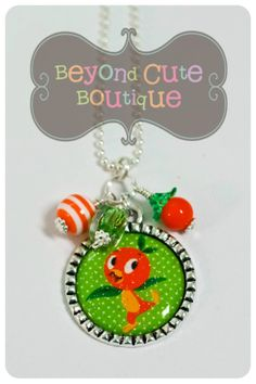 ORANGE+BIRD+NECKLACE+Disney+World+by+BeyondCuteBoutique+on+Etsy,+$15.00