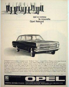 Opel Rekord Opel Allemandes