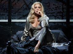Soprano Anna Netrebko, in her role debut as Lady Macbeth in Verdi's Shakespearean opera 'Macbeth,' at the Met
