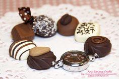Reloj de bombones de chocolate
