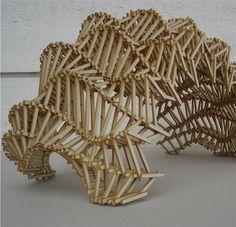 lasercut wood - tragwerk I 2010