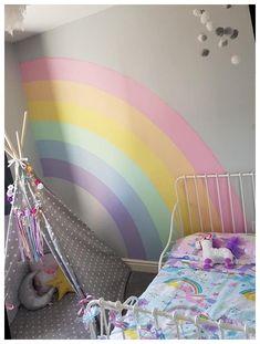 Big Girl Bedrooms, Little Girl Rooms, Girls Bedroom, Room Wall Decor, Baby Room Decor, Bedroom Decor, Cute Bedroom Ideas, Girl Bedroom Designs, Rainbow Bedroom