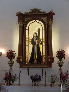 Alcazaba. Capilla de Jesus Nazareno de las Torres.- Imágen del titular, Jesús Navas-Parejo que desde 1641 esta en esta capilla.