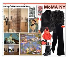 """""""MoMA NY"""" by marionmeyer on Polyvore featuring Mode, Uniqlo, Assouline Publishing, The Row, Alexander McQueen, Chanel, Loewe, MAC Cosmetics, OPI und Lancôme"""
