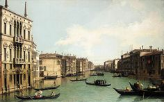 Giovanni Antonio Canaletto - Giovanni Antonio Canaletto - Venice: The Grand Canal, Looking North-East from Palazzo Balbi to the Rialto Bridge