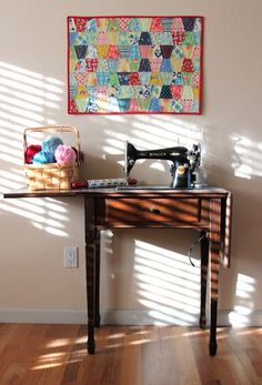 need to find a vintage sewing table for my vintage sewing machine!! would love to do this!!
