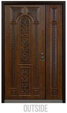 Buy Titian Double front door at a bargain price from Novo Porte at TheDoorsDepot, the online shop offering Titian Double entry door in the USA House Main Door Design, Main Entrance Door Design, Wooden Front Door Design, Double Door Design, Pooja Room Door Design, Bedroom Door Design, Door Design Interior, Entrance Doors, House Design