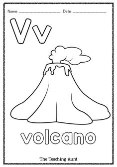 Volcano Worksheet for Kids. 20 Volcano Worksheet for Kids. Color by Number Volcano Subtraction Kindergarten, Free Kindergarten Worksheets, Free Preschool, Preschool Learning, Worksheets For Kids, Preschool Activities, Children Activities, Volcano Worksheet, Volcano For Kids