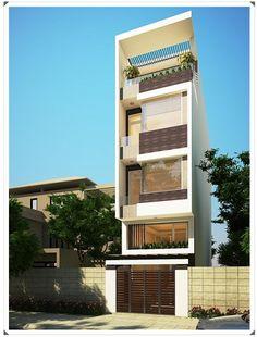Mẫu thiết kế nhà phố 4 tầng đẹp đầy sang trọng ở Bình Thuận
