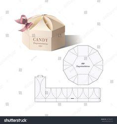 Retail Box with Blueprint Template - Regalos Origami Gift Box, Diy Gift Box, Diy Box, Gift Box Packaging, Paper Packaging, Packaging Design, Paper Box Template, Printable Box, Box Patterns