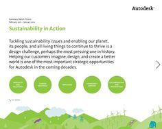 Autodesk's FY12 Sustainability Report - Summary Sketch FY2012 by Autodesk via Slideshare #sustainability