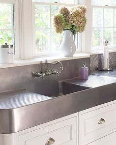 Stainless Sink · Apron · Backsplash · Long Weekend · Yay To A Long Weekend!  I Love Our Good Friends Doug And Ellieu0027s Historic Home