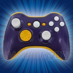 Just in time for the draft, we are now offering our NFL colors Xbox 360 rapid fire modded controllers. These feature controllers in your favorite color schemes for each of your favorite teams. This is our Vikings Xbox 360 Modded Controller. If your team isn't currently listed, please email designs@gamingmodz.com and we'll make the controller for you!