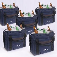 Personalized Set of 5 Soft-Sided Cooler-Groomsmen Gifts