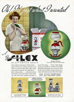 SILEX COFFEE MAKER Ad - 1937 - Bride's Special