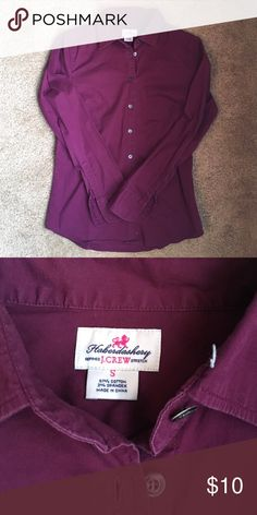Plum J.Crew button down Great condition. Plum, soft, great basic for work J. Crew Tops Button Down Shirts