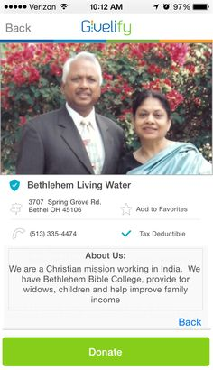 Bethlehem Living Water in Bethel, Ohio #GivelifyNonprofits