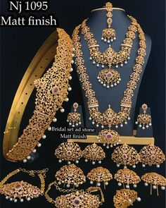 Mattefinish wedding jewelry sets To place order watsap us on 8179399644 how much amount for this set Indian Bridal Jewelry Sets, Wedding Jewelry Sets, Bridal Jewellery, Temple Jewellery, Wedding Sets, Antique Jewellery Designs, Hyderabad, Gold Jewelry, Movie Downloads