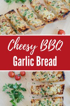 Not your average garlic bread! This version is loaded with zesty BBQ sauce and smothered in melted cheese, the perfect BBQ side dish! Side Dishes For Bbq, Healthy Side Dishes, Easy Healthy Recipes, Yummy Recipes, Vegetarian Recipes, Yummy Food, Savory Pastry, Savoury Baking, Cheap Easy Meals
