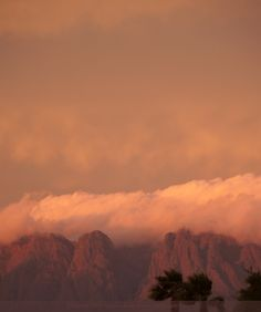 Hottentots Holland Mountains seen from the Strand in the Western Cape with it's own table cloth First Photo, Aesthetic Pictures, South Africa, Holland, Westerns, Cape, Colours, Mountains, Sunset