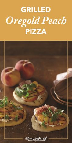 Grilled Peach Pizza Recipe. Try this on the grill and top it off with mascarpone cheese, grilled peaches, prosciutto and arugula.