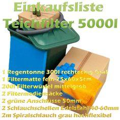 Teichfilter Aufbau und Filtermedien Reihenfolge   Teichfilter White Out, Filters, Rain Water Collector, Psychics, Tutorials, Sketches