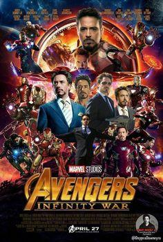 Avengers infinity war poster all iron man version Marvel Actors, Marvel Vs, Marvel Dc Comics, Marvel Heroes, Iron Man Avengers, The Avengers, Marvel Jokes, Marvel Funny, Iron Man Poster
