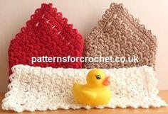 Free crochet pattern washcloth USA