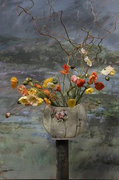 Art Floral, Claire Basler, French Artists, Ikebana, Flower Art, Flower Mural, Flower Paintings, Painting Inspiration, Beautiful Flowers