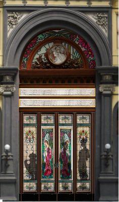 Art Nouveau shop window