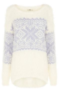Wearable all Winter.Fluffy Fairisle Jumper from Oasis available for My Christmas Jumper Choice - ❄ Xmas 2013 Christmas Jumper Day, Christmas Jumpers, Christmas Knitting, Xmas, Oasis, Winter Jumpers, Jumpers For Women, Clothes For Sale, Knitwear