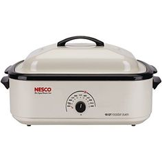 18 Qt Roaster, Porcelain Cookwell – Ivory Body Since 1932 the Nesco brand name has been synonymous with Roaster Ovens. With a Nesco Roaster Oven you can roast, bake, cook, steam, slow cook and serve. Other than broiling, the Nesco Roaster Oven can do anything a normal oven can do but... - http://kitchen-dining.bestselleroutlet.net/product-review-for-nesco-4818-14-classic-roaster-oven-18-quart-porcelain-cookwell-ivory/
