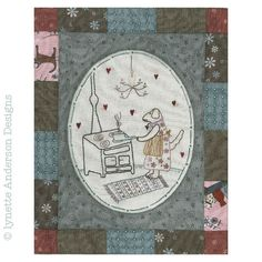 - Comforts of Home - Month 8 Linnet, Patches, Kids Rugs, Diy Crafts, Embroidery, Green, How To Make, Scrappy Quilts, French Tips