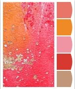 Warm up your decor with these sweet and citrus inspired colors! Colour Schemes, Color Patterns, Colour Palettes, Color Combos, World Of Color, Color Of Life, Color Palate, Creative Colour, Design Seeds