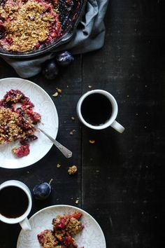 DISH | plum cardamom crisp Welcome in the cooler temperatures of Fall with a breakfast of warm plum cardamom crisp with rye and hazelnuts.