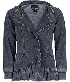 "Daytrip Ruffled Sweep Jacket - would make a great addition to an ""everyday steampunk"" ensemble."