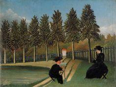 アンリ・ルソー 「妻を描く画家」