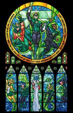 Vitraux Green Lantern
