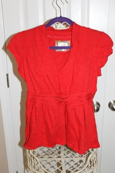 Red Blouse Anthropologie M #Swapdom